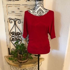 Rue 21 red 3/4 sleeve blouse